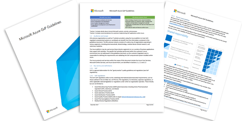 Azure GxP Guidelines